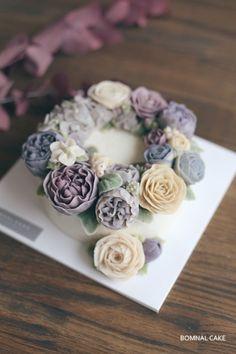 [꽃피는봄날] 오늘의 앙금플라워떡케이크, CLASS : 네이버 블로그