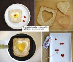 Lovely toast with hearts