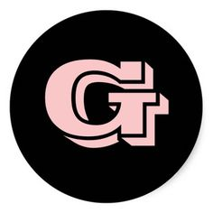 Capital Letter G Large Round Stickers by Janz