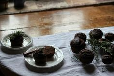 Better than Butter - Chocolate and rosemary muffins (vegan, gluten-free)