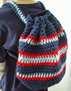 Vanessas Values: Shoe Boxes for Boys: Crocheted Backpack (Free Pattern)