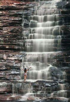 Beautiful waterfall near Brazil