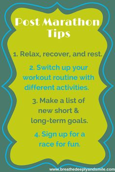 When You Don't Know What to Do: Post-Marathon Tips!