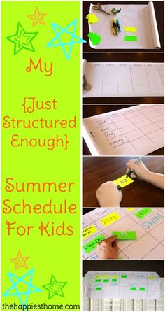 "My ""Just Structured Enough"" Summer Schedule For Kids #summer #routine #momlife"