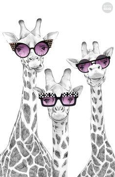 Image about cute in Wallpapers! 🌅🌟🌠 by Nicole Georgia - Uploaded by Nicole Georgia. Find images and videos about cute, cool and funny on We Heart It – th - Giraffe Decor, Giraffe Art, Animal Paintings, Animal Drawings, Art Drawings, Giraffe Pictures, Animal Pictures, Art Floral, Mode Poster