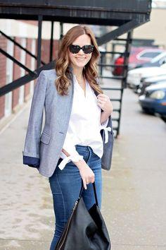 my everyday style: the chambray blazer!