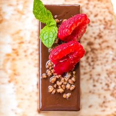 Mini Valrhona chocolate delice part of our dessert selection. Small but perfectly formed #hungryfortapas