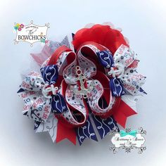 Refuse To Sink ~ Nautical Anchor Over The Top Hairbow by BrittanysBowsNMore2 on Etsy https://www.etsy.com/listing/243143484/refuse-to-sink-nautical-anchor-over-the