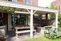klassieke veranda met houtkachel te Rotterdam