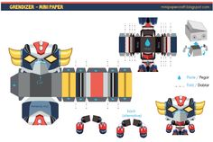 Blog Paper Toy papertoy Grendizer Gus Santome template preview Papertoy Goldorak de Gus Santome