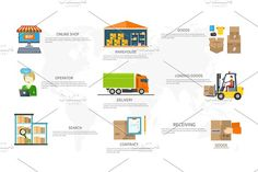 Infographics Equipment Warehouse by robuart on @creativemarket