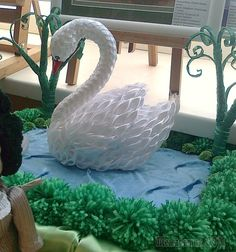 Hobby Fai Da Te Giardino - Hobby Room Inspiration - - - Hobby For Teens Activities Origami Swan, 3d Origami, Hobbies For Women, Hobbies To Try, Ribbon Art, Ribbon Crafts, Diy Crafts, Cute Birthday Cards, Wall Hanging Crafts