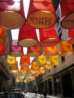 Teresa Sapey's Luce Dal Lino Project (Via Montenapoleone, Milan)