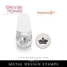 "Impressart Metal Stamp - Crown Shape SIZE: 6mm (1/4"") This punch is suitable on softer metals, such as nickel silver, copper, brass, aluminum, and pewter, as well as leather, polymer clay and epoxy cl"