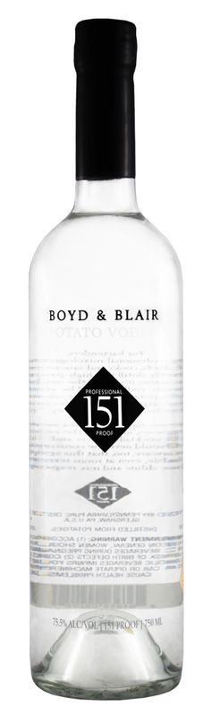 Boyd and Blair Vodka - Potato vodka made in United States #BoydandBlair #BoydandBlairvodka #vodka