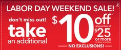 Payless Shoes Coupon - This weekend only take $10 off any purchase of $25 or more with coupon 78299.