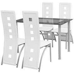 4 Nieuwe Eetstoelen.Eetkamerstoel Minimalistische Doorlopende Leuning Wit 4 St Nieuw