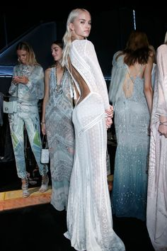 wardrobe fit for an angel | Roberto Cavalli Spring 2014 - Backstage