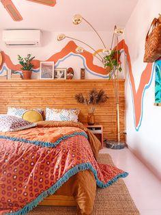 Home Decoration Ideas Creative .Home Decoration Ideas Creative Room Ideas Bedroom, Home Bedroom, Bedroom Decor, Bedroom Colors, Teen Bedroom, Bedroom Inspo, Tumblr Bedroom, Blue Bedrooms, Bedroom Orange