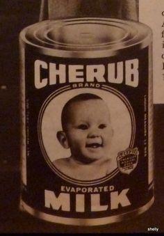 Cherub Evaporated Milk Baby Food Cooking Baking Vintage 1940s ORIGINAL PRINT AD