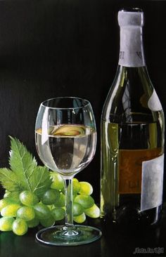 Натюрморт с виноградом - Бруяко Анна
