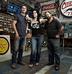 American Pickers Mike Wolfe Danielle Colby Frank Fritz