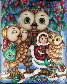 Colouring Pages, Coloring Books, Markova, Christmas Owls, Favorite Pastime, Black Eyed Peas, Prismacolor, Adult Coloring, Color Inspiration