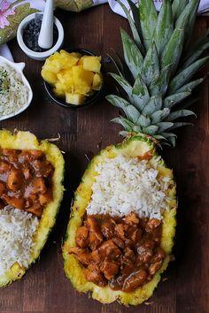 Pollo hawaiano Oriental, Mediterranean Recipes, Light Recipes, Fitness Diet, Cilantro, Italian Recipes, Pineapple, Food And Drink, Cooking Recipes