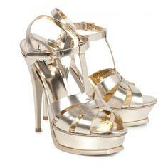 Www Ysl Yves Saint Lau Tribute Metallic Sandals Bride Bridal Wedding Shoes