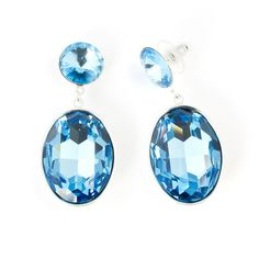 Stunning statement earrings available in a range of colourful Swarovski crystal combinations to express your individual style. These earrings are long wit Statement Earrings, Pearl Earrings, Aquamarine Colour, Jewel Tones, Crystal Jewelry, Timeless Fashion, Oval Shape, Swarovski Crystals, Women Jewelry