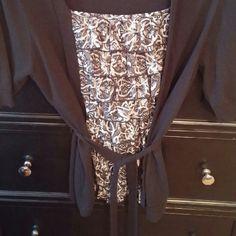 Apt 9 layered ruffles & attached cardigan top APT 9 layered ruffles & attached cardigan top Apt. 9 Tops