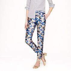 Collection track pant in nightgarden floral - Straight - Women's pants - J.Crew