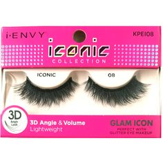 44b4b6b459a Kiss i-ENVY iconic Collection Glam Icon 3D Angle Eyelashes 1 Pair Pack -  iconic 08 #KPEI08