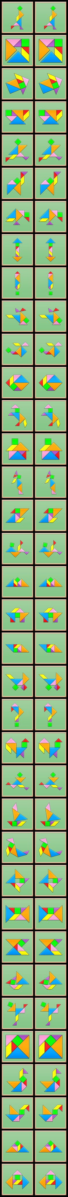 The Tangram Channel provides a great number of tangram puzzles, short videos, step by step tutorials and tangram-related activities. Games 4 Kids, Math For Kids, Math Games, Educational Activities, Toddler Activities, Activities For Kids, Tangram Printable, Tangram Puzzles, Grande Section