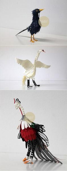 Columbia artist Diana Beltran Herrera, paper cut out bird sculpture