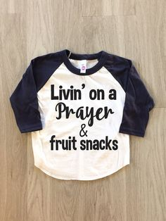 Livin' on a Prayer & fruit snacks  baby boy by 8thWonderOutfitters