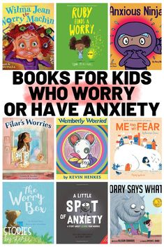 Are you looking for some books to share with kids who worry or have anxiety? Here are some great titles to help your kids work through their feelings. Wemberly Worried, Social Emotional Learning, Social Skills, Character Education, Art Education, Great Books, Books For Kids, Best Books For Kindergarteners, School Counseling