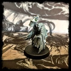 A blind Light Bearer of the Order of the Last Illumination - my first AoS28 conversion WIP.   Don't let the grand titles fool you, in my head the Order are vagabond daemon banishers, and spirit scourges who roam the tide line where Chaos has rolled back from the mortal realms.