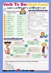 English worksheet: Verb To Be  -  Simple Present