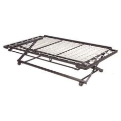 Features:  -Casters for self support.  -Can be easily stored under Fashion Bed Group daybeds.  -Includes a link spring and pop-up metal frame for use with a twin mattress.  Product Type: -Trundle unit