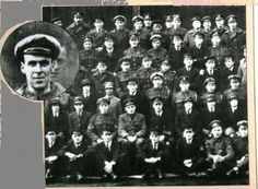 Sir Victor Goddard, retired RAF officer, revealed this (now famous) photographic anomaly –  The snap was taken at the Royal Navy airbase HMS Daedalus in 1919 on the day of the funeral of the squadren mechanic, Freddie Jackson – who had been killed two days earlier in the propellor of an aeroplane.  It is said that it is undeniably Freddie's features which mysteriously appear in the photograph (image enlarged on the left for clarity).