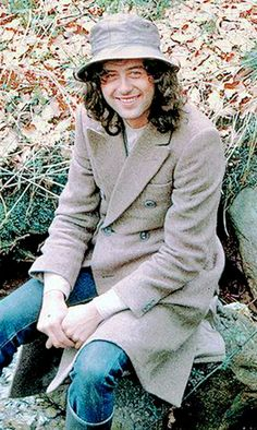 Jimmy Page in the countryside that surrounds Bron-Yr-Aur, 1970