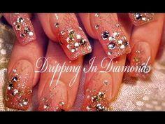 Dripping in DIAMONDS | Hot & Sexy DIVA Nail Art Design Tutorial - YouTube