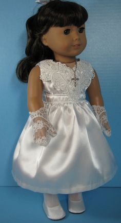 18 Inch Doll Clothes American Girl Confirmation by nayasdesigns