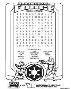 Star Wars Rebels Activity Sheets