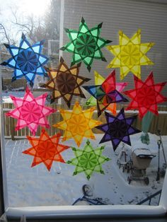 Items similar to Beautiful paper window stars, choose your colour MOST IN STOCK on Etsy