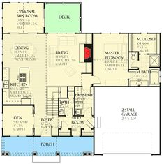 Craftsman House Plan with Optional Sun Room - 970040VC | Architectural Designs - House Plans
