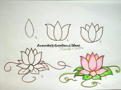 Draw with children Courtesy: Anamika's Creation & Ideas Drawing For Beginners, Drawing Tutorials, Art Tutorials, Easy Drawings For Kids, Drawing For Kids, Art For Kids, Flower Sketches, Art Sketches, Simple Doodles