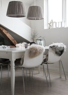love the furry chairs