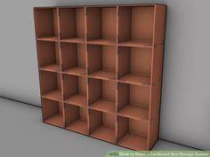 Hacer una estanteria de cartón con cajas de almacenamiento